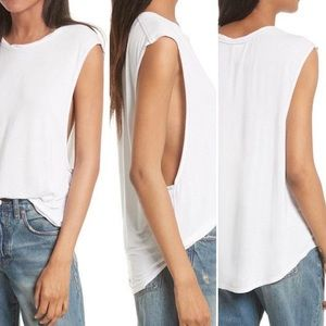 NWT WE THE FREE WHITE MUSCLE SHIRT SIZE SM…
